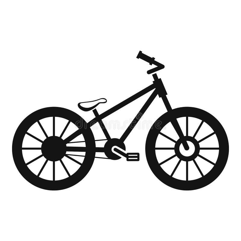 Ícone da bicicleta, estilo simples ilustração royalty free