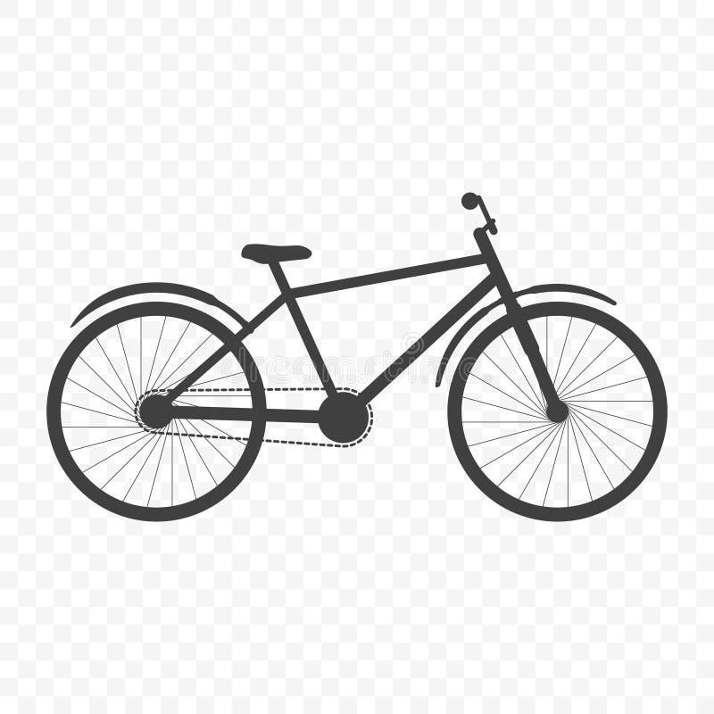 Ícone da bicicleta Imagem parcialmente detalhada Vetor no fundo transparente ilustração stock