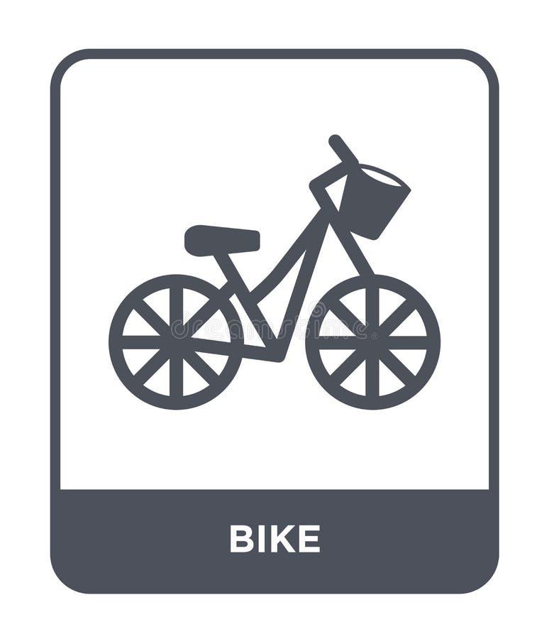ícone da bicicleta no estilo na moda do projeto Ícone da bicicleta isolado no fundo branco símbolo liso simples e moderno do ícon ilustração do vetor