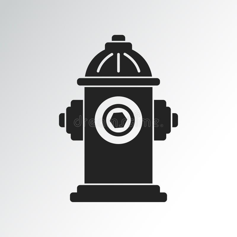 Ícone da boca de incêndio de fogo Ilustração do vetor ilustração do vetor