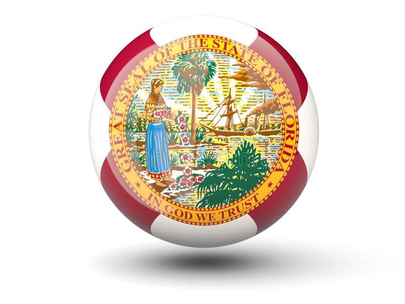 ícone da bola 3D com a bandeira de florida Bandeiras do local de Estados Unidos ilustração stock
