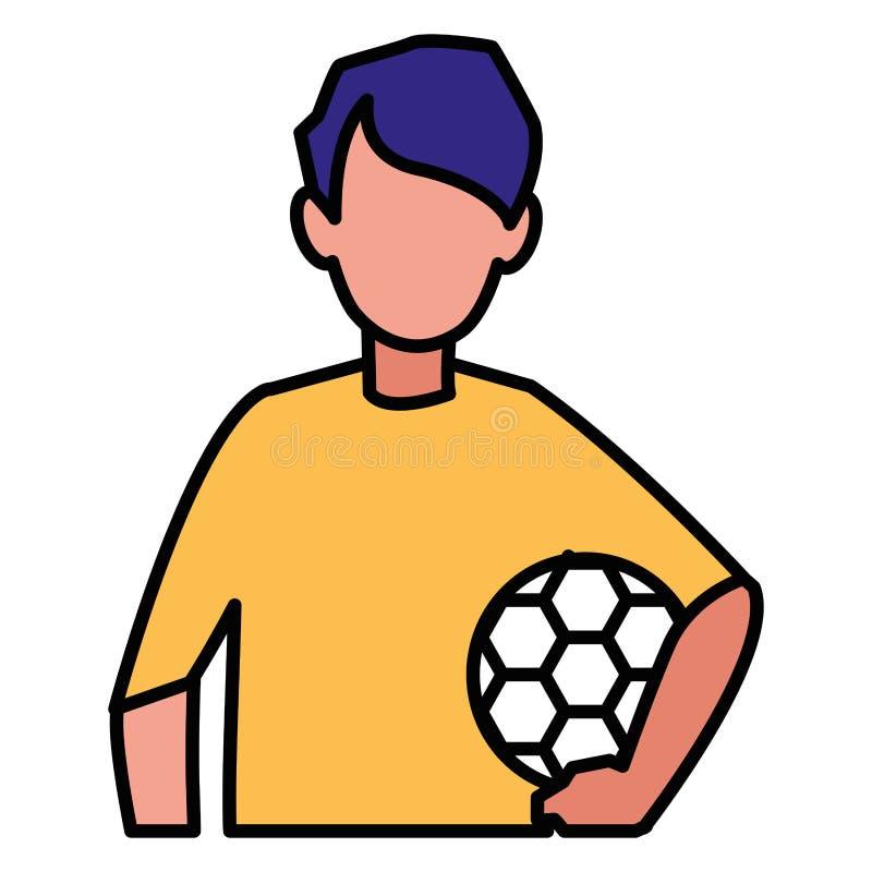 Ícone da bola de futebol ilustração royalty free