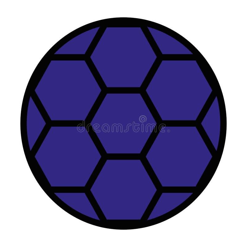 Ícone da bola de futebol ilustração stock