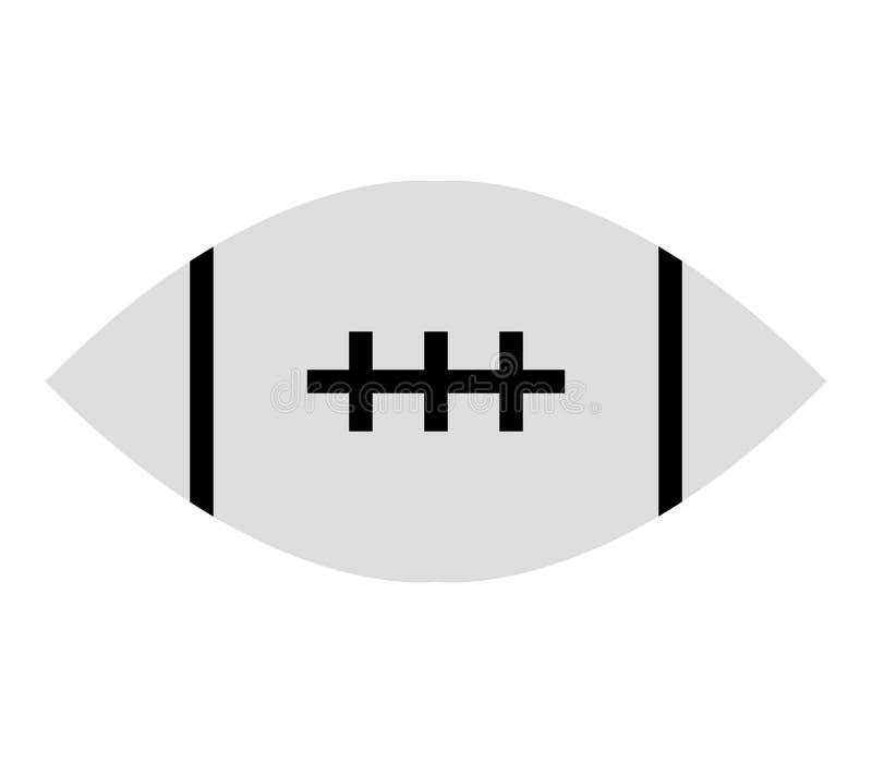 Ícone da bola de rugby ilustração stock