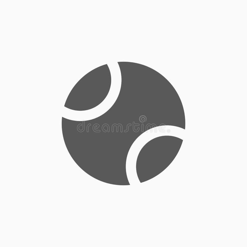 Ícone da bola de tênis, esporte, exercício ilustração royalty free