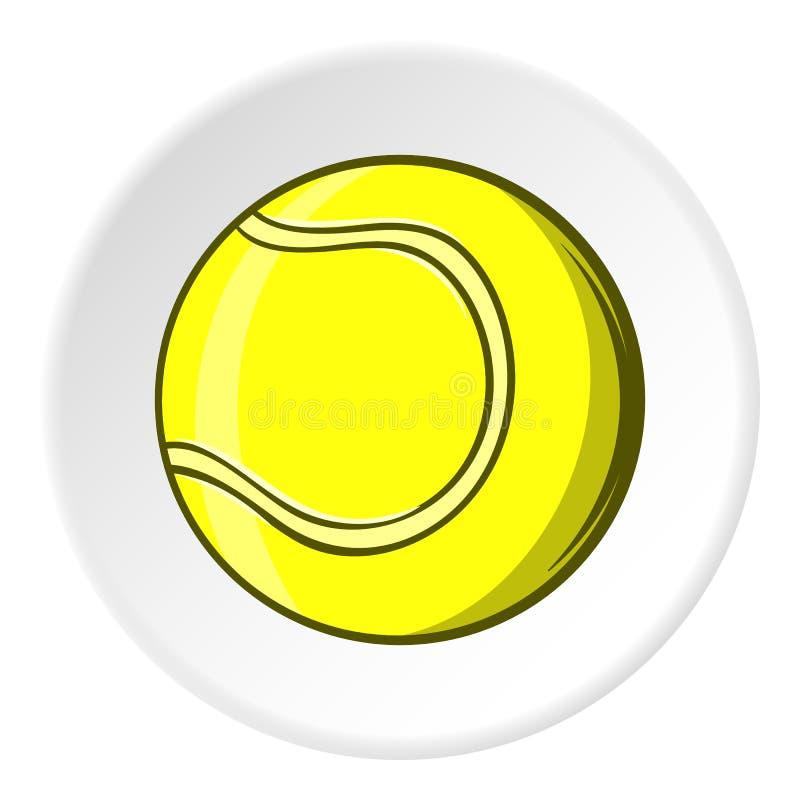 Ícone da bola de tênis, estilo dos desenhos animados ilustração do vetor