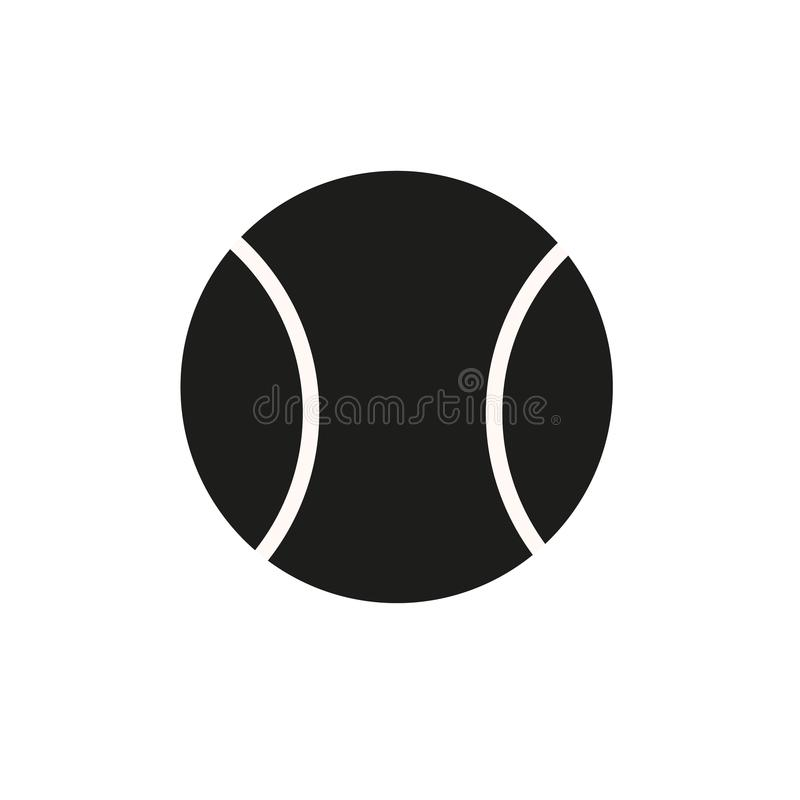 Ícone da bola de tênis no estilo liso na moda isolado no fundo logotipo da bola de tênis, app, UI Vetor do ícone da bola de tênis ilustração royalty free