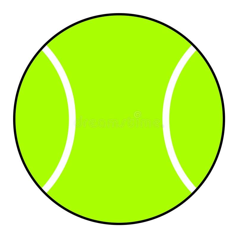 Ícone da bola de tênis Bola verde ilustração stock