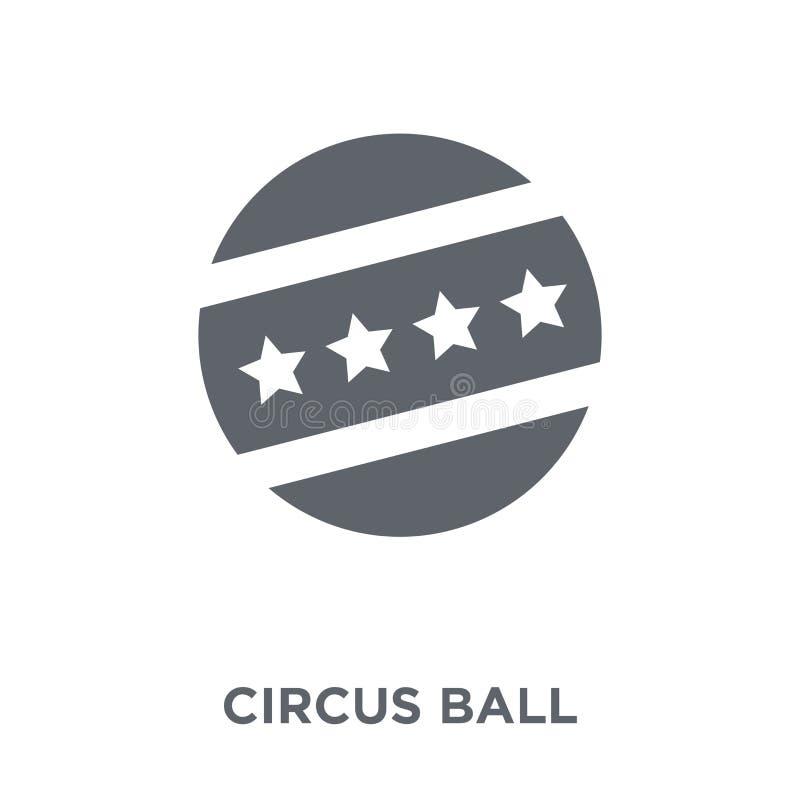 Ícone da bola do circo da coleção do circo ilustração royalty free
