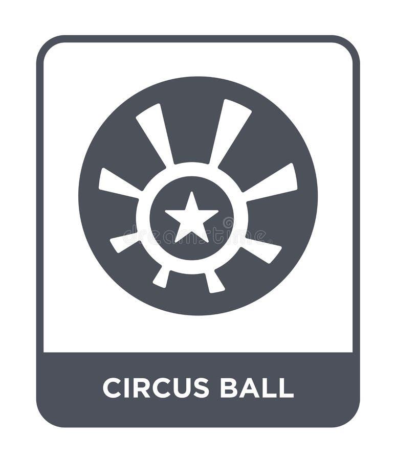 ícone da bola do circo no estilo na moda do projeto ícone da bola do circo isolado no fundo branco ícone do vetor da bola do circ ilustração royalty free
