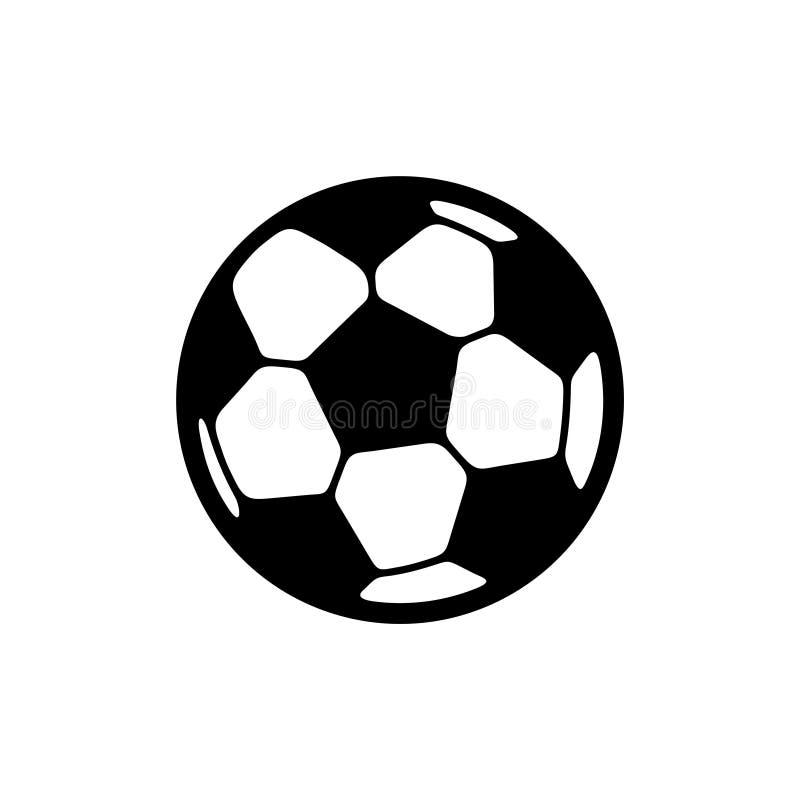 Ícone da bola do futebol ilustração royalty free