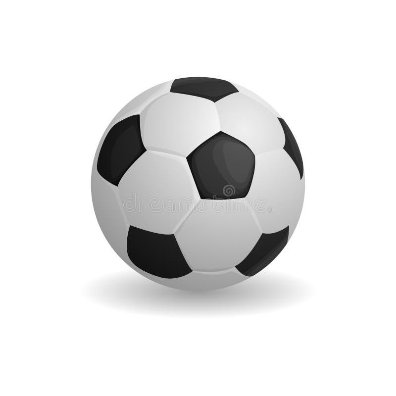 Ícone da bola do futebol, estilo dos desenhos animados ilustração do vetor