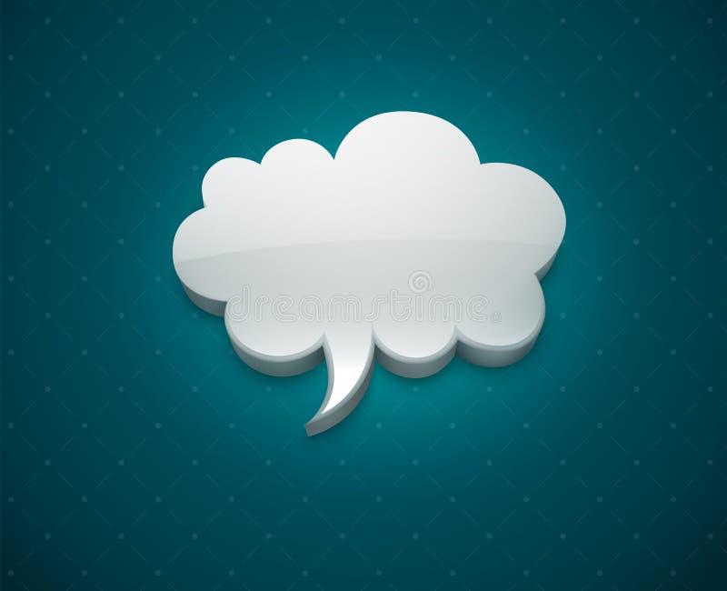 Ícone da bolha da nuvem para a mensagem ilustração royalty free