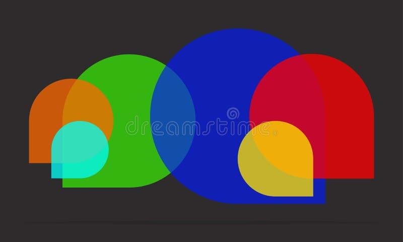 Ícone da bolha do discurso fotografia de stock