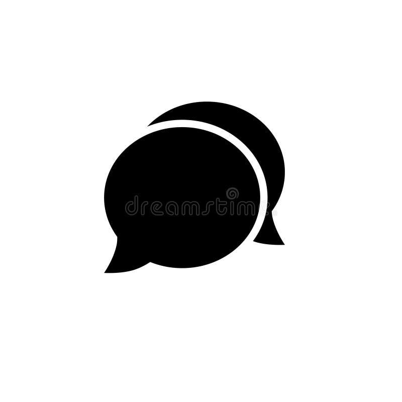 Ícone da bolha do discurso Um de ícones ajustados do vetor da Web ilustração stock