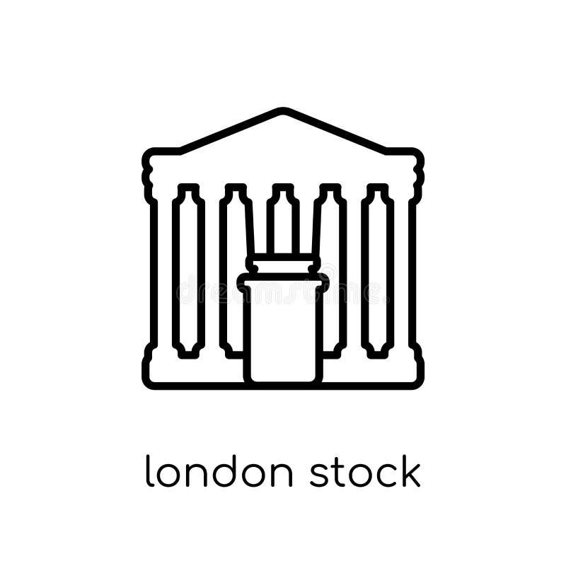 Ícone da bolsa de valores de Londres  ilustração royalty free
