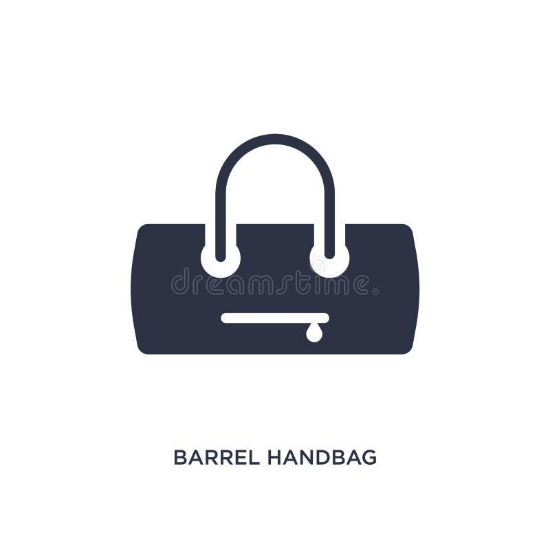 ícone da bolsa do tambor no fundo branco Ilustração simples do elemento do conceito da roupa ilustração do vetor