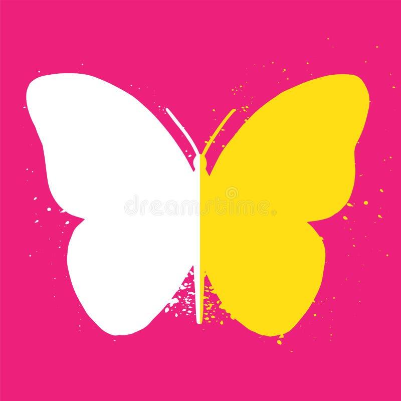 Ícone da borboleta ilustração stock