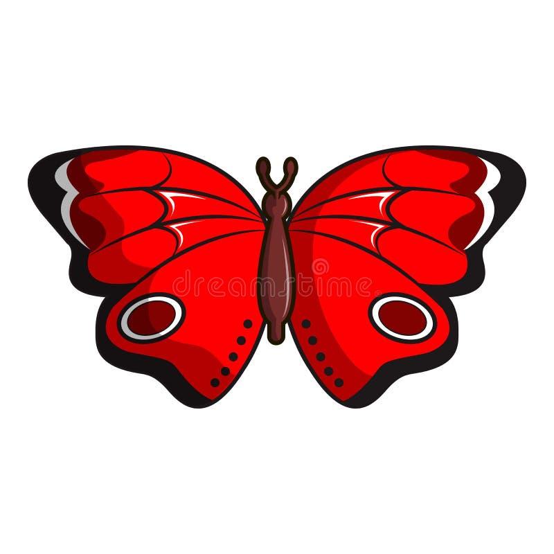 Ícone da borboleta de Sangaris, estilo dos desenhos animados ilustração do vetor