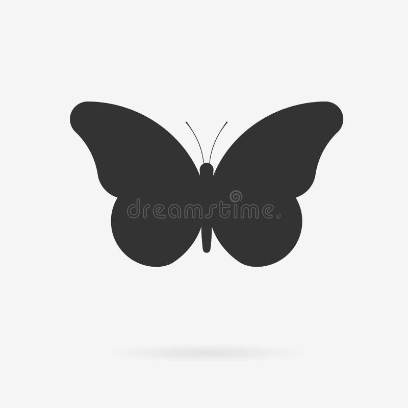 Ícone da borboleta do vetor ilustração stock