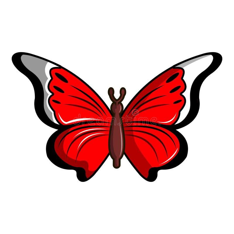 Ícone da borboleta dos biblis de Cethosia, estilo dos desenhos animados ilustração stock