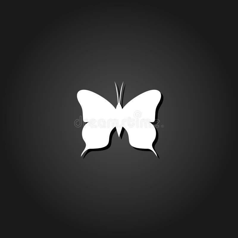 Ícone da borboleta liso ilustração stock