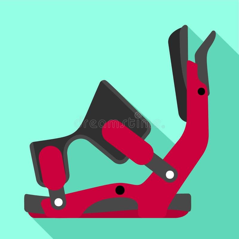 Ícone da braçadeira do esqui, estilo liso ilustração stock