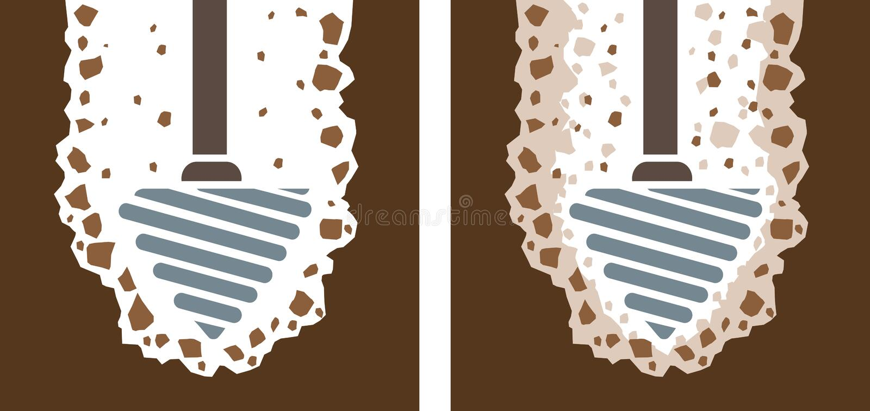 Ícone da broca ilustração do vetor