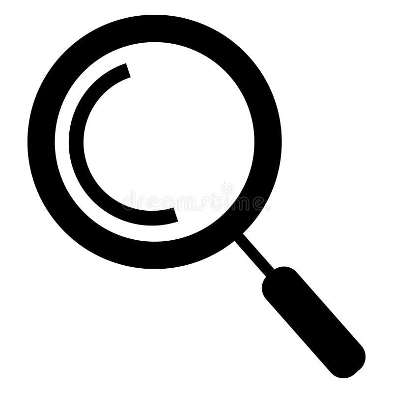Ícone da busca isolado no fundo branco Ícone na moda da busca no estilo liso Ícone da lupa para o app, o ui, o logotipo e o site ilustração stock