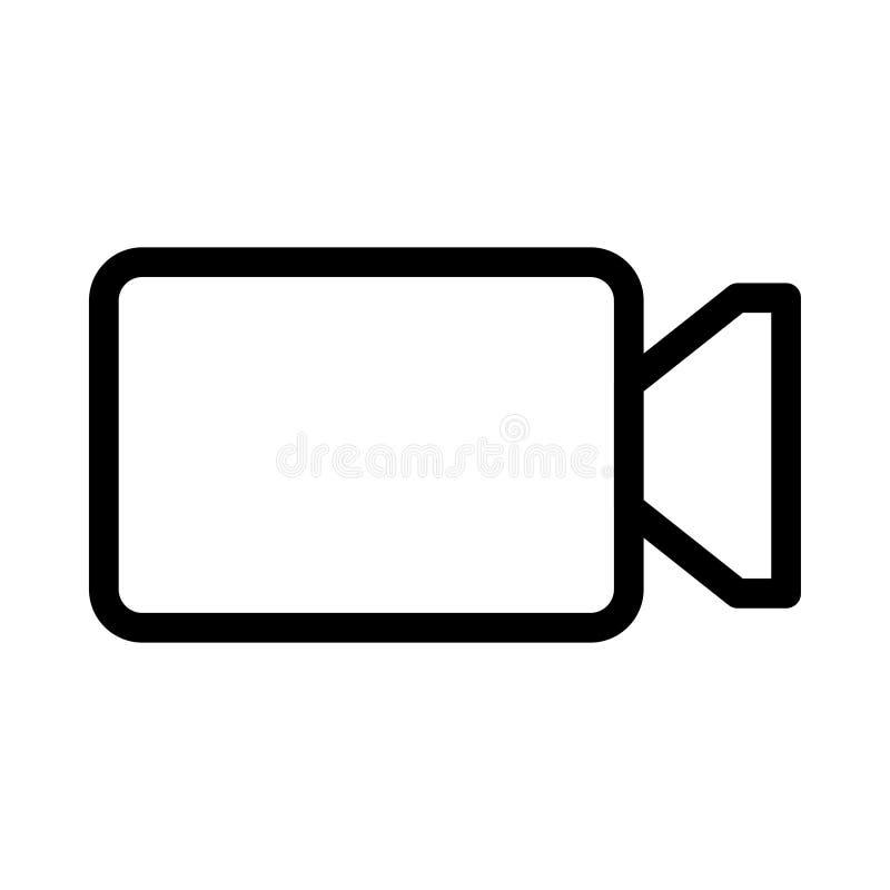 Ícone da câmara de vídeo ilustração stock