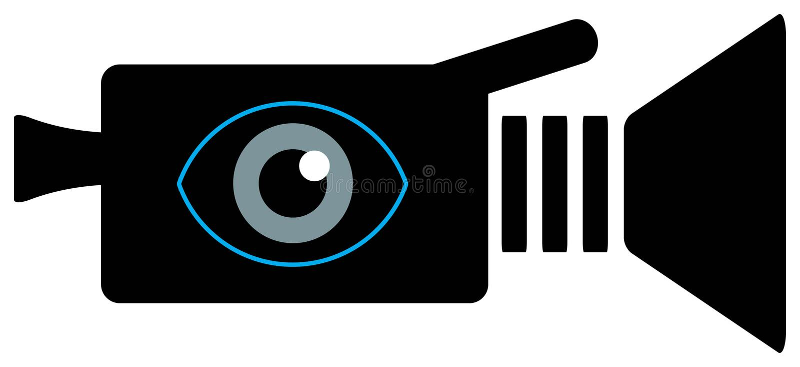 Ícone da câmara de vídeo ilustração do vetor