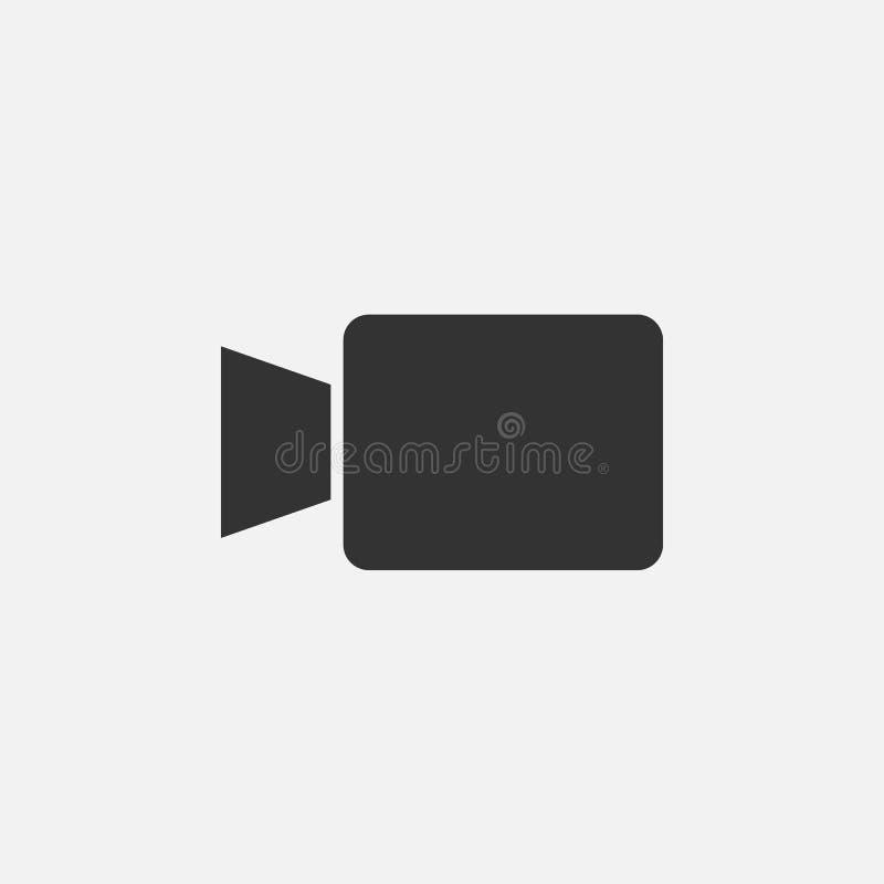 Ícone da câmara de vídeo, câmera, vídeo, registro, cinema, filme ilustração stock