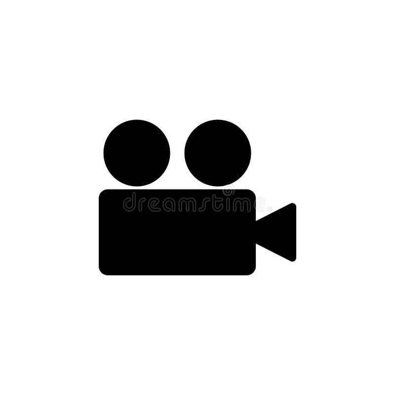 Ícone da câmara de vídeo Elemento de ícones da Web Ícone superior do projeto gráfico da qualidade Sinais e ícone para Web site, W ilustração do vetor