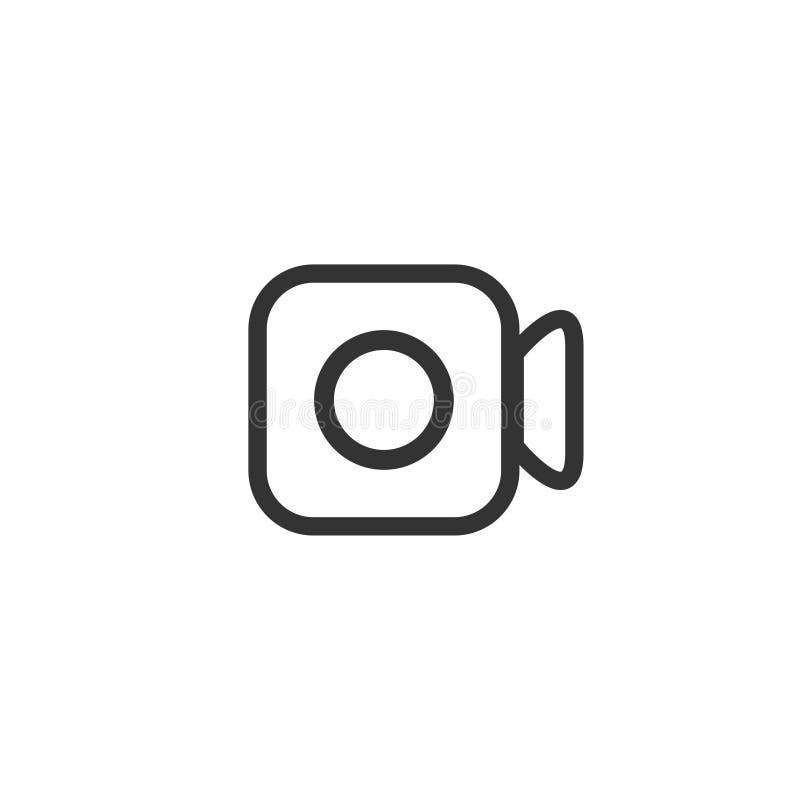 Ícone da câmara de vídeo no projeto simples Ilustra??o do vetor ilustração do vetor
