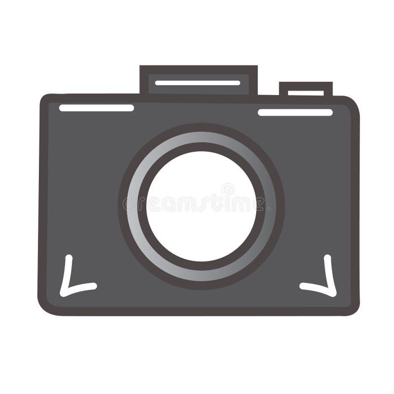 Ícone da câmara digital ilustração royalty free