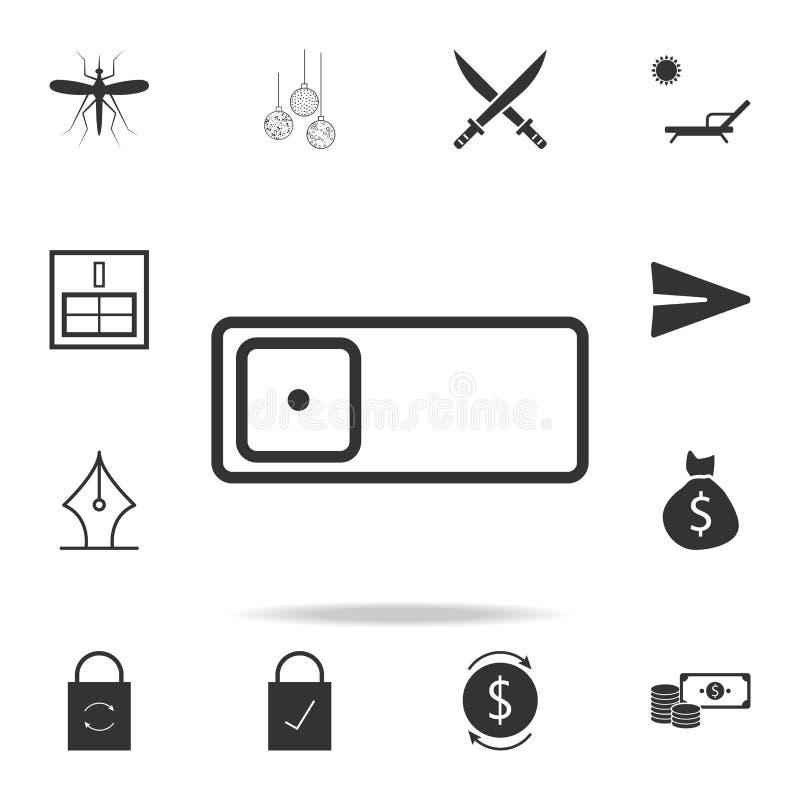 Ícone da câmera do telefone Grupo detalhado de ícones e de sinais da Web Projeto gráfico superior Um dos ícones da coleção para W ilustração royalty free