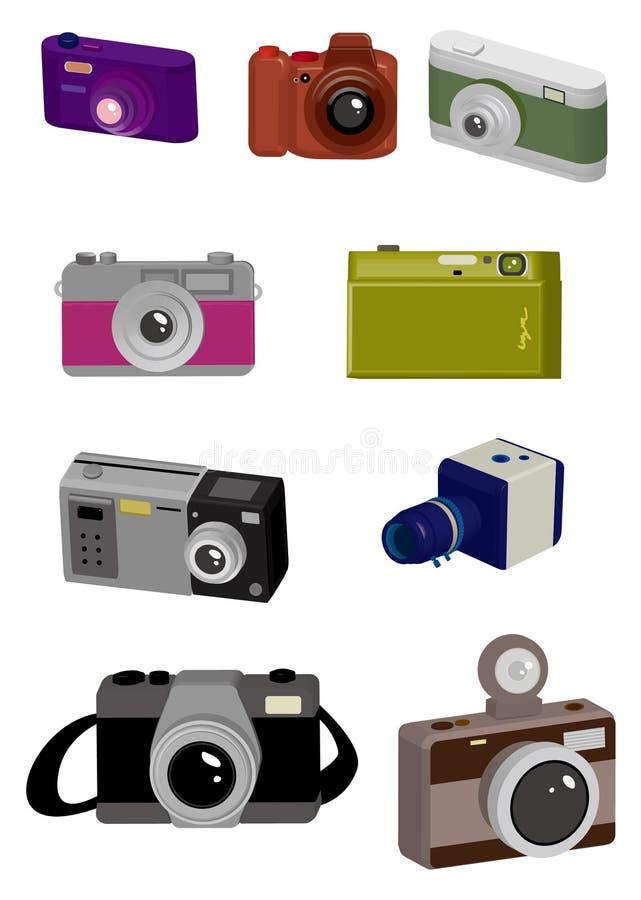 Ícone da câmera dos desenhos animados ilustração stock