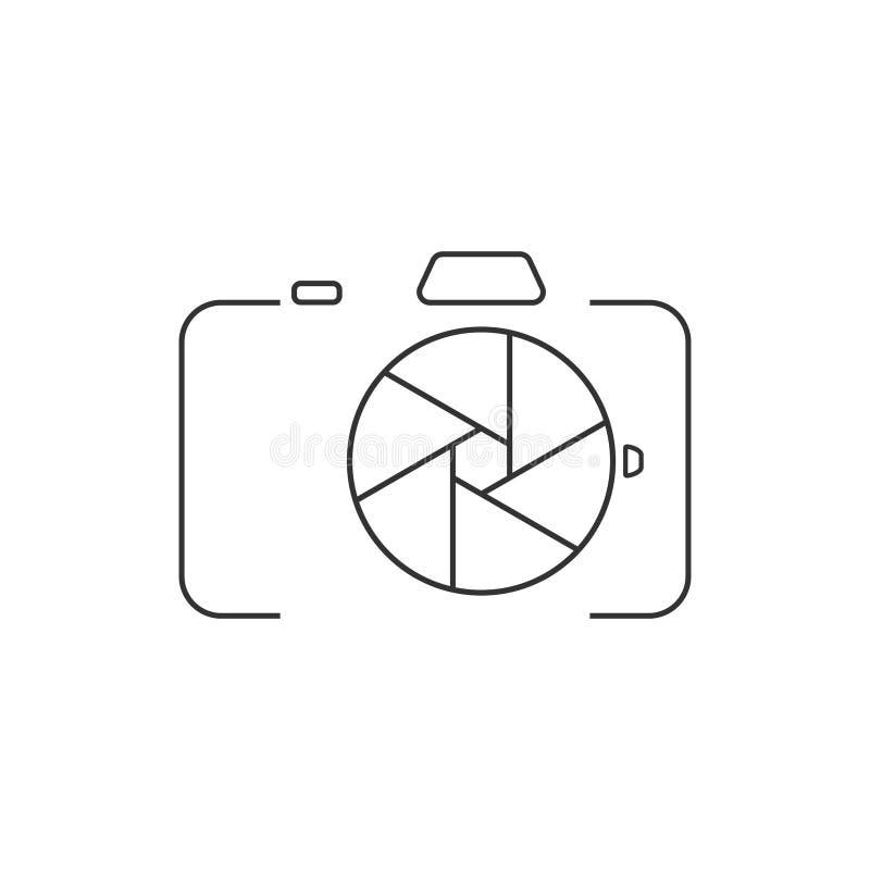 Ícone da câmera DSLR ilustração royalty free