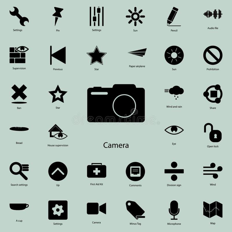 Ícone da câmera da foto Grupo detalhado de ícones minimalistic Projeto gráfico superior Um dos ícones da coleção para Web site, d ilustração royalty free