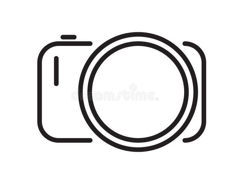 Ícone da câmera no estilo liso Escolha o símbolo de alta qualidade do esboço da câmera para o design web ou o app móvel Linha fin ilustração royalty free