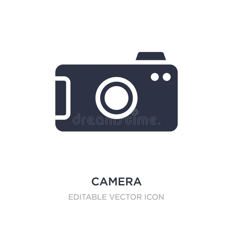 Ícone da câmera no fundo branco Ilustração simples do elemento do conceito dos sinais ilustração stock