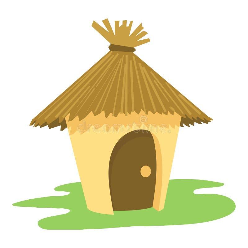 Ícone da cabana, estilo dos desenhos animados ilustração royalty free