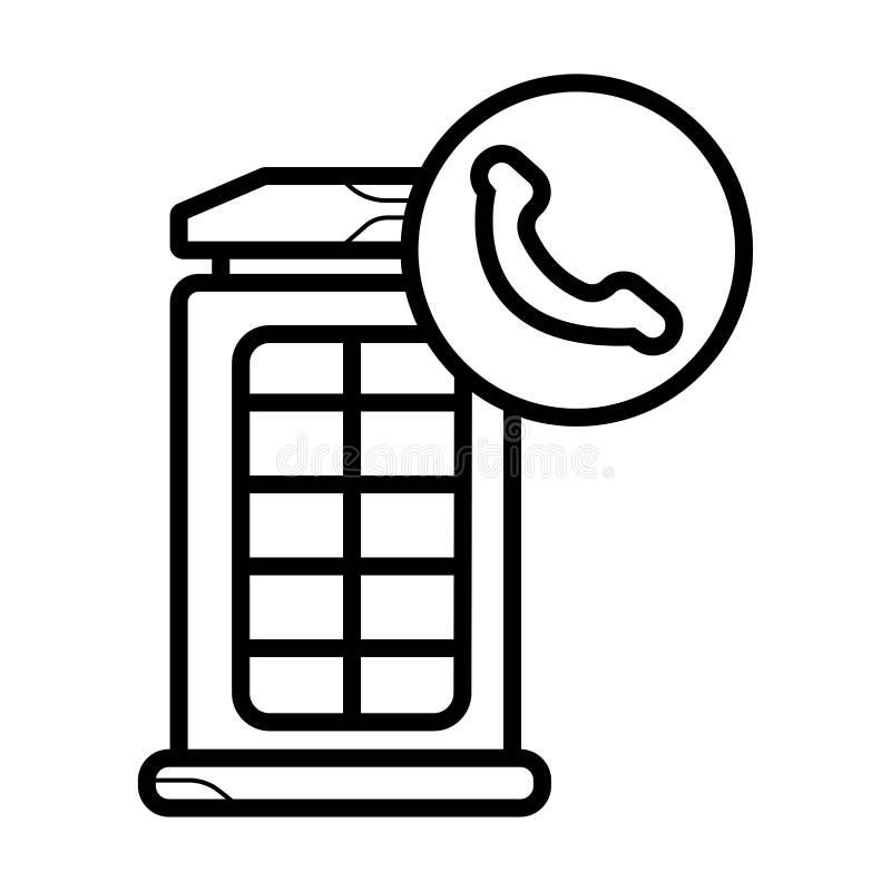 Ícone da cabine de telefone de Londres ilustração royalty free