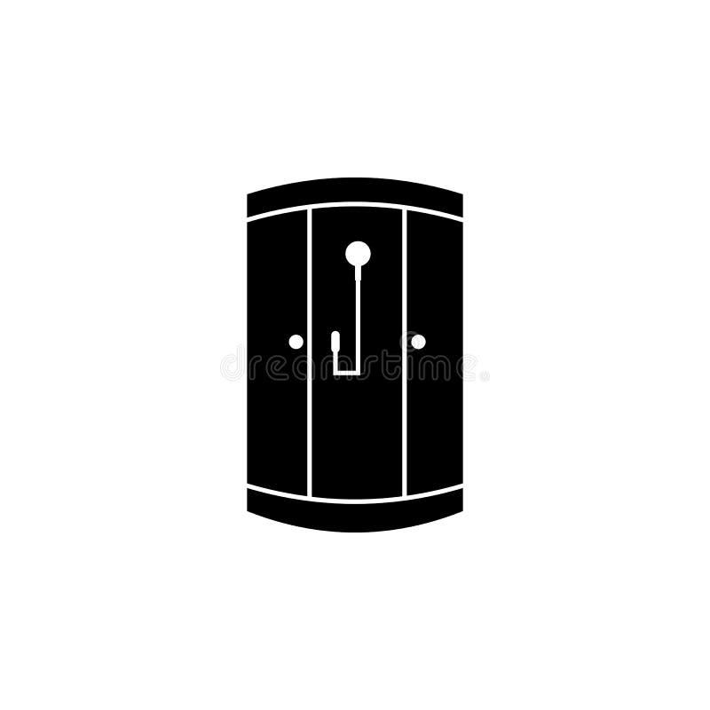 Ícone da cabine do chuveiro Ícone do banheiro e do elemento da sauna Projeto gráfico da qualidade superior Sinais, ícone da coleç ilustração royalty free