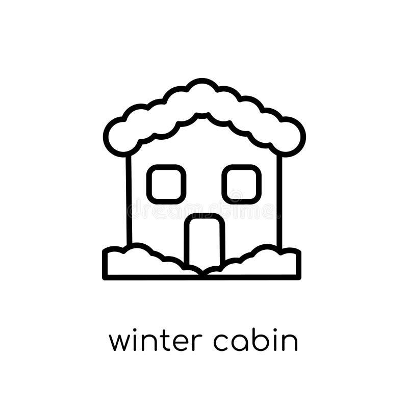 ícone da cabine do inverno da coleção do inverno ilustração stock