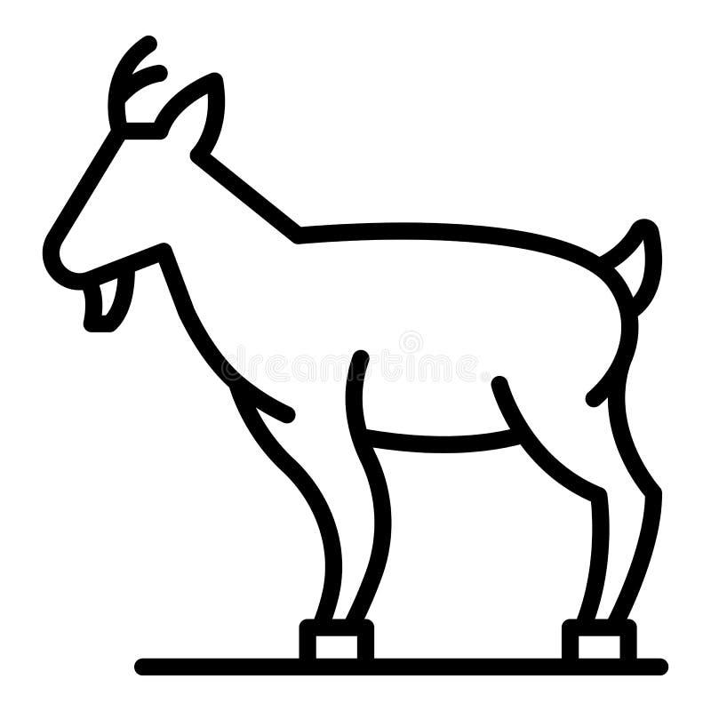 Ícone da cabra da exploração agrícola, estilo do esboço ilustração stock