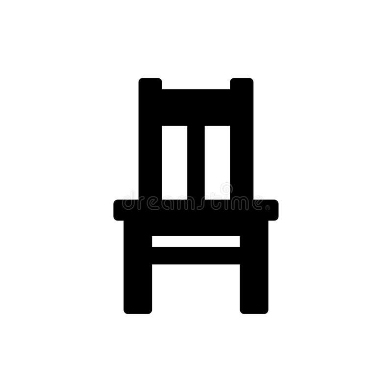 Ícone da cadeira ilustração stock