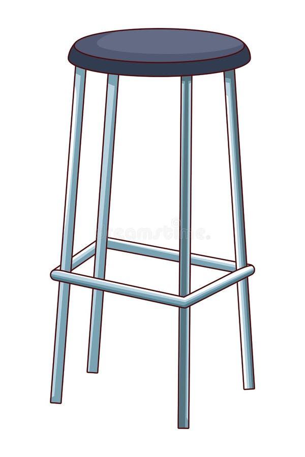Ícone da cadeira alta ilustração royalty free