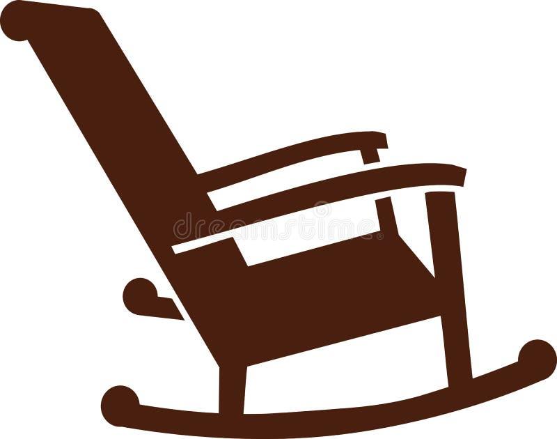 Ícone da cadeira de balanço ilustração do vetor