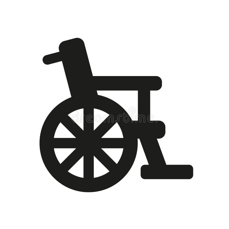 Ícone da cadeira de rodas  ilustração do vetor